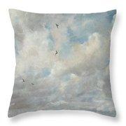 Cloud Study Throw Pillow