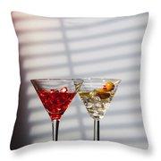Cocktails At The Bar Throw Pillow