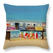 Cocoa Beach/cape Canaveral Pier Throw Pillow