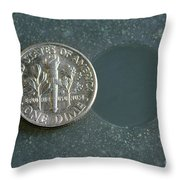 Coin Containing Silver Inhibits Throw Pillow