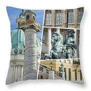 Collage Of Vienna Throw Pillow