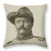 Colonel Theodore Roosevelt Throw Pillow
