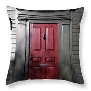 Colonial Red Door Newport Rhode Island Throw Pillow