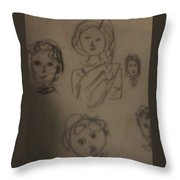 Color Prints Throw Pillow
