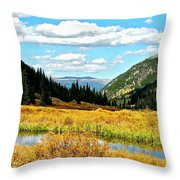 Colorado Mountain Lake In Fall Throw Pillow