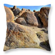 Colorful Boulders In The Alabama Hills Throw Pillow by Ray Mathis