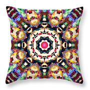 Colorful Concentric Abstract Throw Pillow