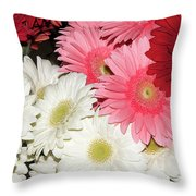 Colorful Gerber Throw Pillow
