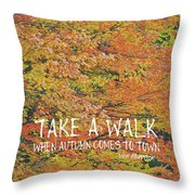 Colors Of Fall Quote Throw Pillow