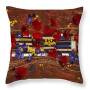 Colourful Abstract Painting Throw Pillow