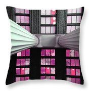 2 Column Stain Pink Throw Pillow