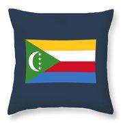 Comoros Flag Throw Pillow