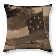 Confederate Camp Throw Pillow