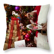 Cookies And Milk For Santa Throw Pillow
