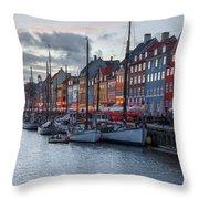 Copenhagen - Denmark Throw Pillow
