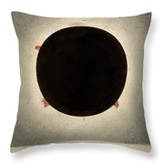 Corona Of The Sun During Total Eclipse Throw Pillow