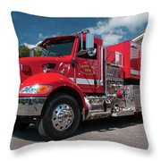 Cowee Fire Rescue - Tanker 1850, North Carolina Throw Pillow