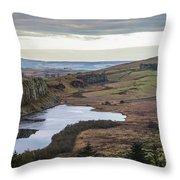 Crag Lough Throw Pillow