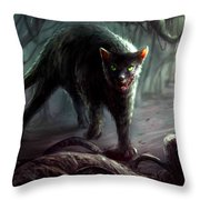 Creepy Throw Pillow