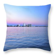 2- Crimson Horizon Throw Pillow