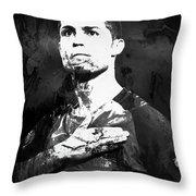 Cristiano Ronaldo Oki Throw Pillow