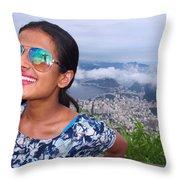 Cristo Redentor, Brazil Throw Pillow