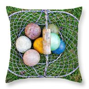 Croquet Balls Throw Pillow