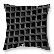 Cross And Building Throw Pillow