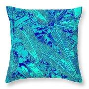 Croton Series - Blue Throw Pillow