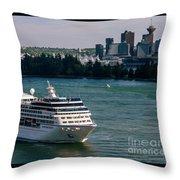 Cruise Ship 4 Throw Pillow