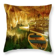 Crystal Cave In Hamilton Parish Bermuda Throw Pillow