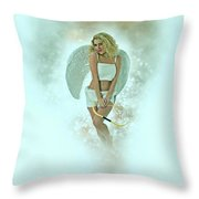 Cupid The God Of Desire Throw Pillow