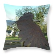 Custer Park, Bismarck, Nd, Usa - Bicentennial Of The Constitution Throw Pillow