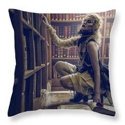 Dark Tales And The Rose Of Solitude Throw Pillow