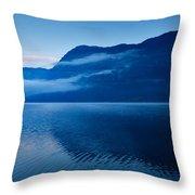 Dawn At Lake Bohinj In Slovenia Throw Pillow
