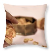 Dead Flower Petals With A Gift, Begonia Throw Pillow