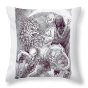 Death Devil And Maiden Throw Pillow