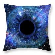 Deep Black Hole, Like An Eye In The Sky Throw Pillow