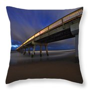 Deerfield Beach, Florida Pier Throw Pillow