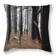 2 Deers Throw Pillow