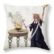 Demonology, 18th Century Throw Pillow