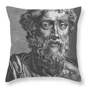 Demosthenes, Ancient Greek Orator Throw Pillow