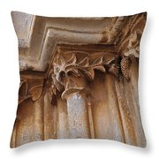 Detail Of The Medieval Portal Of Saint Marys Church In Tavira. Portugal Throw Pillow