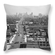 Detroit 1942 Throw Pillow
