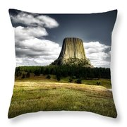 Devil's Tower - Wyoming Throw Pillow