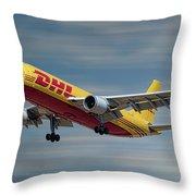 Dhl Airbus A300-f4 Throw Pillow