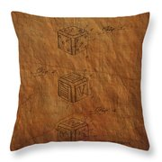Dice Patent From 1923 Throw Pillow