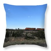 Diesel Train Engines Throw Pillow