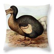 Dodo Bird Raphus Cucullatus, Extinct Throw Pillow