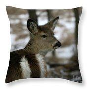 Doe Profile Throw Pillow